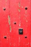Vermelho velho fundo de madeira pintado Fotos de Stock Royalty Free