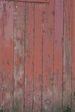 Vermelho velho placas de madeira pintadas Fotos de Stock