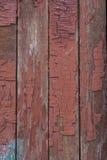 Vermelho velho placas de madeira pintadas Imagens de Stock Royalty Free