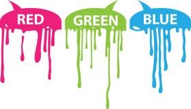 Vermelho, verde, azul ilustração stock