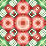 Vermelho verde do teste padrão Imagem de Stock