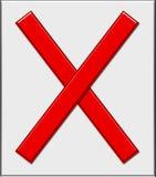 vermelho x Imagem de Stock Royalty Free