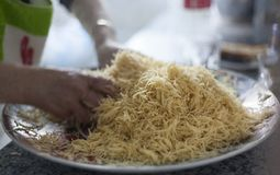 Vermicelli κατ' οίκον γίνοντη αραβική ή ασιατική επεξεργασία τροφίμων στοκ εικόνες με δικαίωμα ελεύθερης χρήσης
