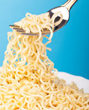 Vermicelli Are On A Fork Stock Image