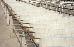 Vermicelli asciutti del riso (panino), villaggio di commercio di 'chi' del Cu Fotografia Stock