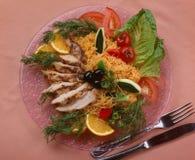 Vermicelli com galinha fotografia de stock royalty free