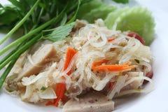 Vermicelli de Yum em Tailândia imagem de stock
