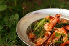 Vermicelli del gamberetto - alimento dell'Asia Fotografie Stock Libere da Diritti