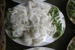 Vermicelli del riso Immagine Stock