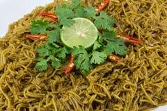 Vermicelli del riso fritto Fotografia Stock