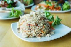 Vermicelli del riso fritto Fotografie Stock