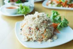 Vermicelli del riso fritto Immagini Stock