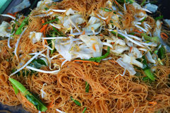 Vermicelli fry. Delicious with vegetables and bean sprouts Stock Image