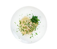 Vermicelli with green peas Royalty Free Stock Photos