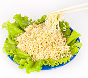 Vermicelli and lettuce Stock Images