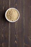 Vermicelli met een houten achtergrond Stock Foto