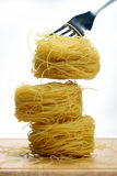Vermicelli pasta nests Stock Photos