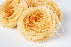 Vermicelli pasta nests Stock Images