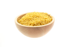 Vermicelli pasta in a wood bowl Stock Photography