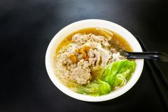 Vermicelli pork noodle soup popular food in Penang Malaysia Royalty Free Stock Photography