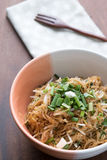 Vermicelli rice noodles fried with green onions Royalty Free Stock Image