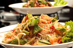 Vermicelli salad Royalty Free Stock Images