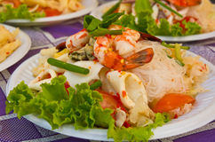 Vermicelli spicy seafood salad. Stock Image