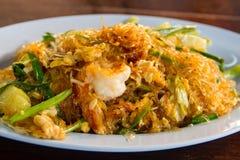 Vermicelli stir-fritado camarão Fotografia de Stock