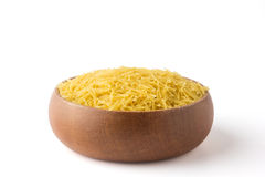 Vermicelli in a wooden bowl Royalty Free Stock Images