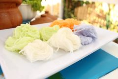 Vermicellis de riz photo libre de droits