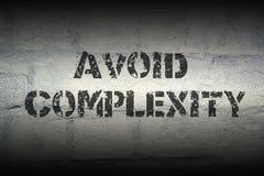Vermijd ingewikkeldheid gr. stock foto's