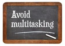 Vermijd multitasking raad royalty-vrije stock foto