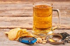 Vermijd schuldig op wegen, drink niet stock afbeelding