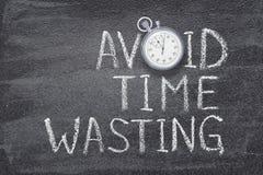 Vermijd tijd verspillend horloge royalty-vrije stock foto