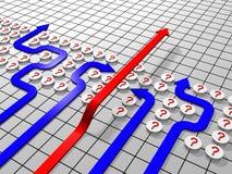 Vermijdende barrière stock illustratie