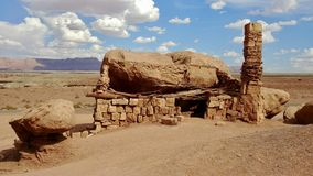 Vermilion Cliff Dweller Home in Arizona. This is an old Native American home just off Highway 89A in Arizona at Vermillion Cliffs stock images