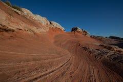 Vermilion Cliffs landscape. Scenic view of vermilion Cliffs National monument landscape and Arizona desrt sand dunes, U.S.A Royalty Free Stock Photo