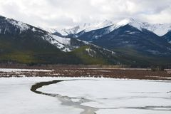 Vermilion Lake frozen over Royalty Free Stock Photography
