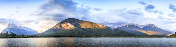 Vermilion Lake. Panoramic view of vermilion Lake in Canda Stock Photos