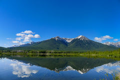 Vermilion Lake with reflection Stock Photo