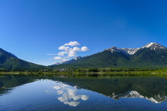 Vermilion Lake with reflection Royalty Free Stock Photos