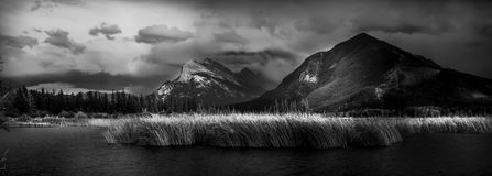Vermilion Lakes Evening Royalty Free Stock Photos