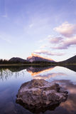 Vermilion lakes and Mount Rundle Stock Image