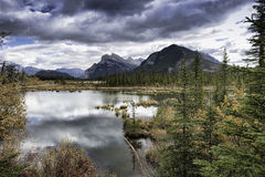 Vermilion Lakes and Mount Rundle Stock Photos