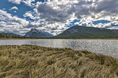 Vermilion Lakes and Mount Rundle Royalty Free Stock Photography