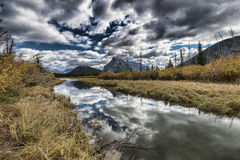 Vermilion Lakes and Mount Rundle Stock Photography