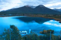 Vermilion lakes near Banff city stock image