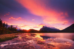 Vermilion Lakes Stock Photos