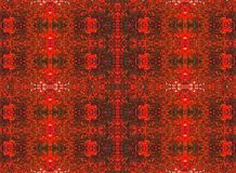 VERMILION REPEAT PATTERN. Delicate detailed vermillion and red decorative repeat pattern Royalty Free Stock Images