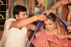 Vermilion - rituel de mariage Images stock
